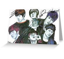 U-Kiss Full Drawing (signed) Greeting Card