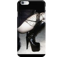 Squatting with 7 inch spike boots iPhone Case/Skin