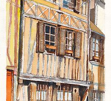 Vernon Colombage 2.  Half-timbered houses in Vernon, France by Dai Wynn