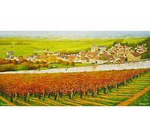 Epernay in the Champagne region of France Photographic Print