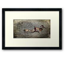 Bushman Eland and Dawn Framed Print