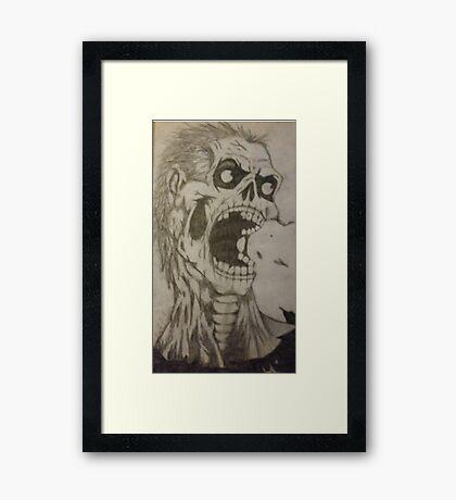 Zombie apocalypse  Framed Print