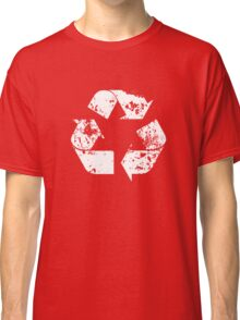 Recycle (Distressed - White) Classic T-Shirt