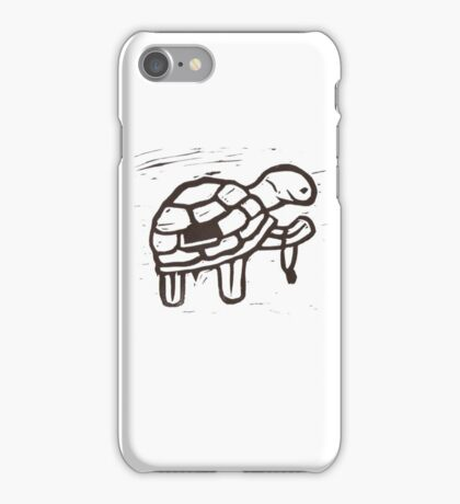 Tortoise wins the race iPhone Case/Skin