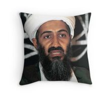 osama bun laden edgy shirt Throw Pillow