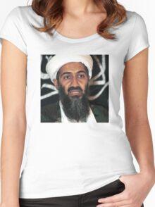 osama bun laden edgy shirt Women's Fitted Scoop T-Shirt