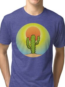 Cool Cactus In The Desert Tri-blend T-Shirt