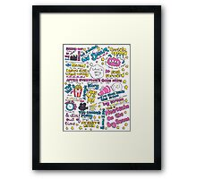 Heartache On the Big Screen Framed Print