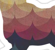Rainbow Peaks Unicorn Sticker
