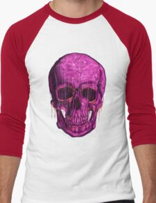 purple skull Men's Baseball ¾ T-Shirt