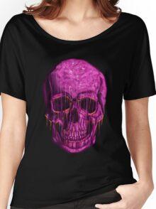 purple skull Women's Relaxed Fit T-Shirt