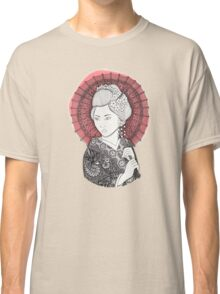 Japanese flag and Geisha Classic T-Shirt