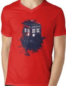 splatter tardis Mens V-Neck T-Shirt