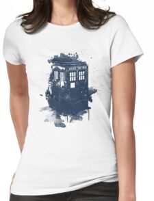 splatter tardis Womens Fitted T-Shirt