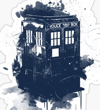 splatter tardis Sticker