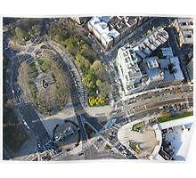 Grand Army Plaza Aerial Photography Poster