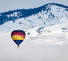 Morning Glory Balloon Rising from Winthrop by Jim Stiles