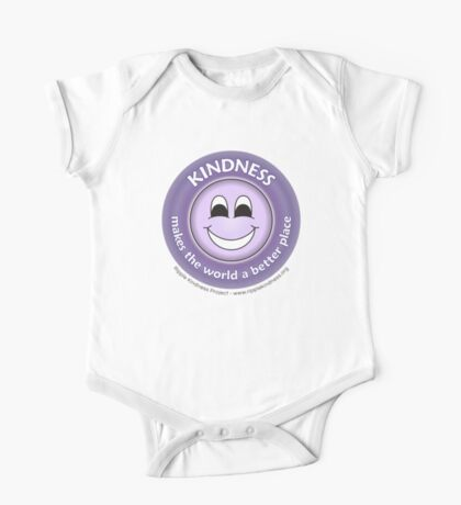 Kindness Makes the World a Better Place - Purple T-shirt Kids Clothes