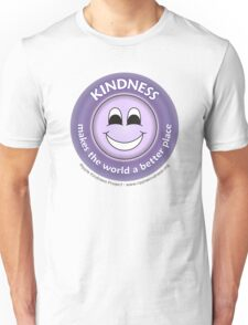 Kindness Makes the World a Better Place - Purple T-shirt T-Shirt
