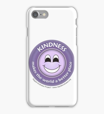 Kindness Makes the World a Better Place - Purple T-shirt iPhone Case/Skin