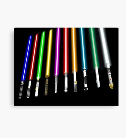Lightsaber Canvas Print