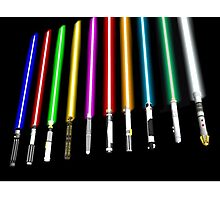 Lightsaber Photographic Print