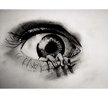 Hand crawling out of Eye Photographic Print