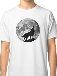 Wolf on the moon Classic T-Shirt