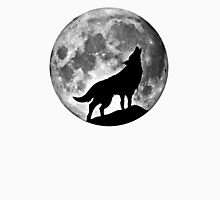 Wolf on the moon Unisex T-Shirt