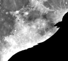 Wolf on the moon Sticker