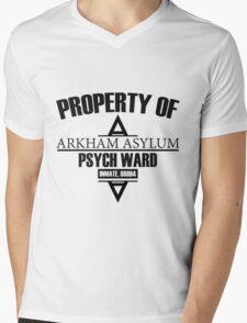 Arkham Asylum // Psych Ward Inmate Design Mens V-Neck T-Shirt