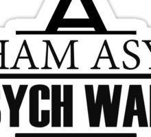 Arkham Asylum // Psych Ward Inmate Design Sticker
