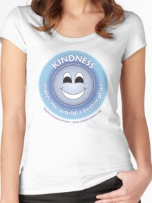 Kindness Makes The World a Better Place - Blue T-shirt Women's Fitted Scoop T-Shirt