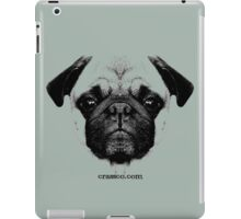 mops puppy white - french bulldog, cute, funny, dog iPad Case/Skin