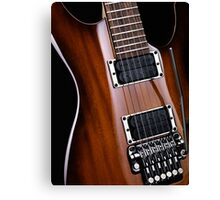 Artistic closeup of electric guitar art photo print Canvas Print