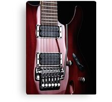 Artistic closeup of red electric guitar art photo print Canvas Print