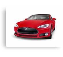 Tesla Model S luxury electric car art photo print Canvas Print