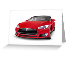 Tesla Model S luxury electric car art photo print Greeting Card
