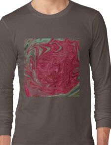 Red Seedhead Abstract Long Sleeve T-Shirt