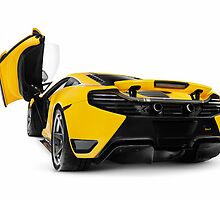 McLaren 12C supercar rear open butterfly door art photo print by ArtNudePhotos