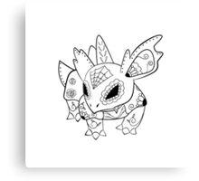 Nidorina de los Muertos   Pokemon & Day of The Dead Mashup Canvas Print