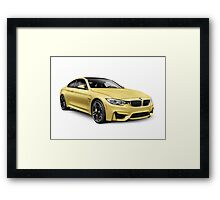 2015 BMW M4 Coupe performance car art photo print Framed Print