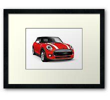 Red 2014 Mini Cooper Hardtop car art photo print Framed Print