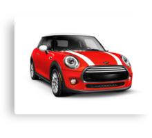 Red 2014 Mini Cooper Hardtop car art photo print Canvas Print