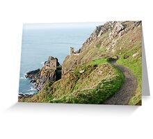 Crown Mines engine house ruins Greeting Card