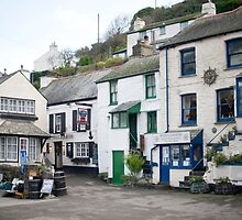 Street scene Polperro by photoeverywhere