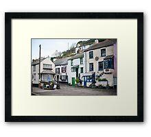 Street scene Polperro Framed Print