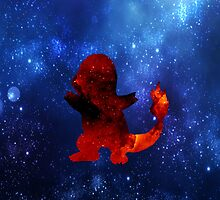 Galaxy Charmander by BrittanyPurcell