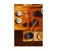 Chinese tea-party Art Print