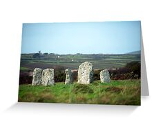 Merry Maidens stone circle Greeting Card